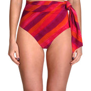 Womens High-Waist Fold-Over Bikini Swim Bottom
