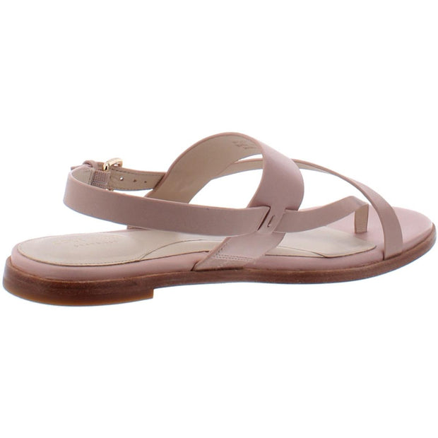 Anica Womens Leather Ankle Strap Thong Sandals