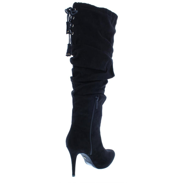 Thalia Sodi Womens Brisa Faux Suede Lace-Up Knee-High Boots