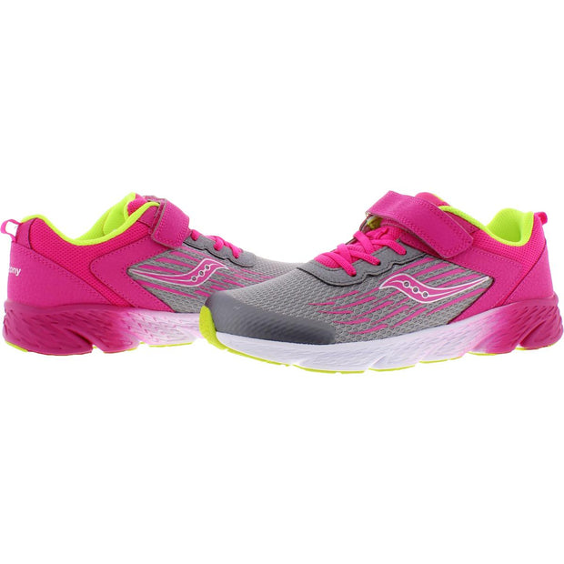 Saucony Girls Wind Big Kid Lifestyle Fashion Sneakers