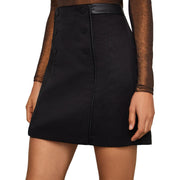 BCBG Max Azria Womens Button Textured Skirt