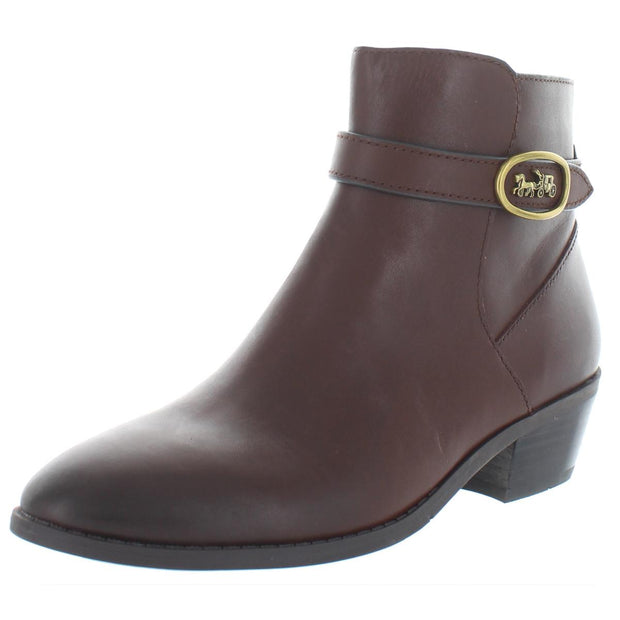 Dylan Womens Leather Stacked Booties