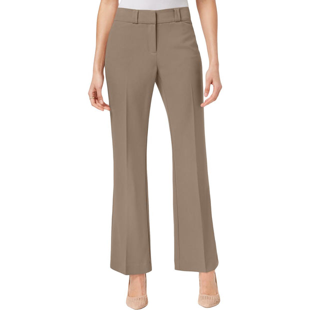 Womens Curvy Fit Mid-Rise Bootcut Pants