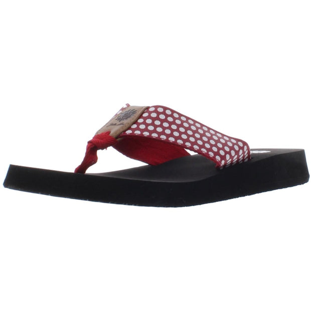 Fromy Womens Polka Dot Slide Flip-Flops