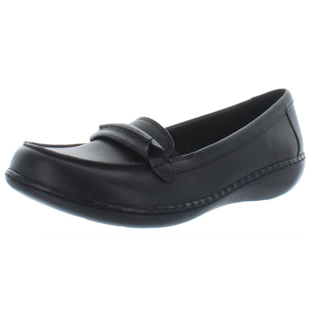 Clarks Womens Ashland Lily Leather Slip On Loafers