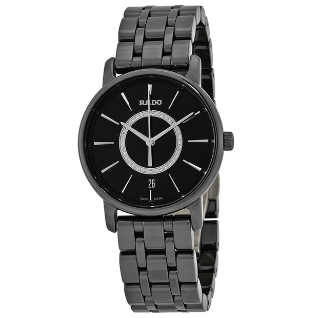 Rado Women's DiaMaster Black Dial Watch - R14063737