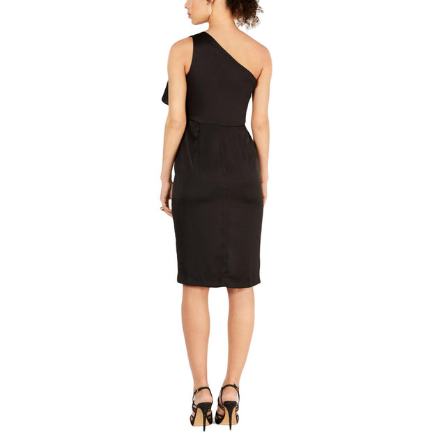 Vince Camuto Womens Ruffled Midi Cocktail Dress