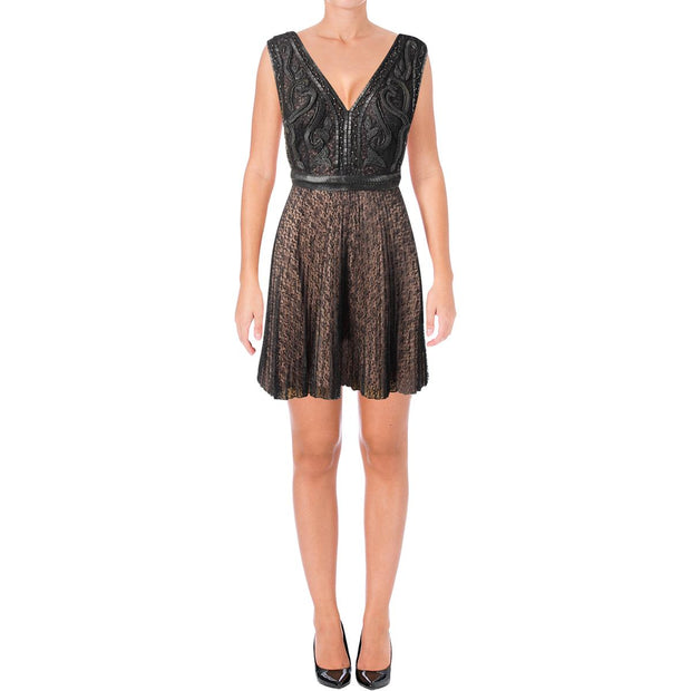 French Connection Womens Florence Sleeveless Above Knee Cocktail Dress