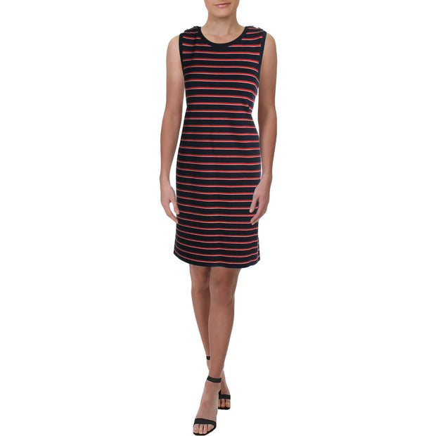 Lauren Ralph Lauren Womens Desprie Sleeveless Striped Casual Dress
