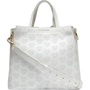 Grand Series Womens Leather Heart Bucket Handbag