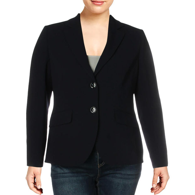 Basler Womens Knit Office Two-Button Blazer