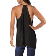 BCBG Max Azria Womens Draped Faux Wrap Tank Top