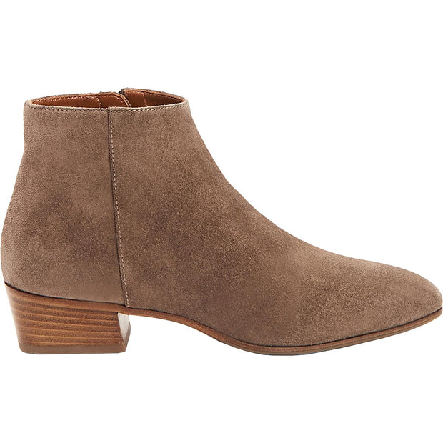Fuoco Womens Suede Block Heel Ankle Boots