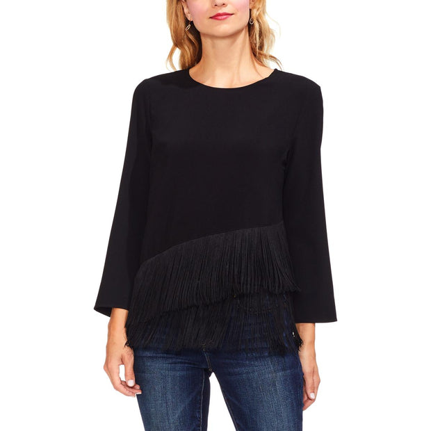 Womens Tiered Bell Sleeves Blouse