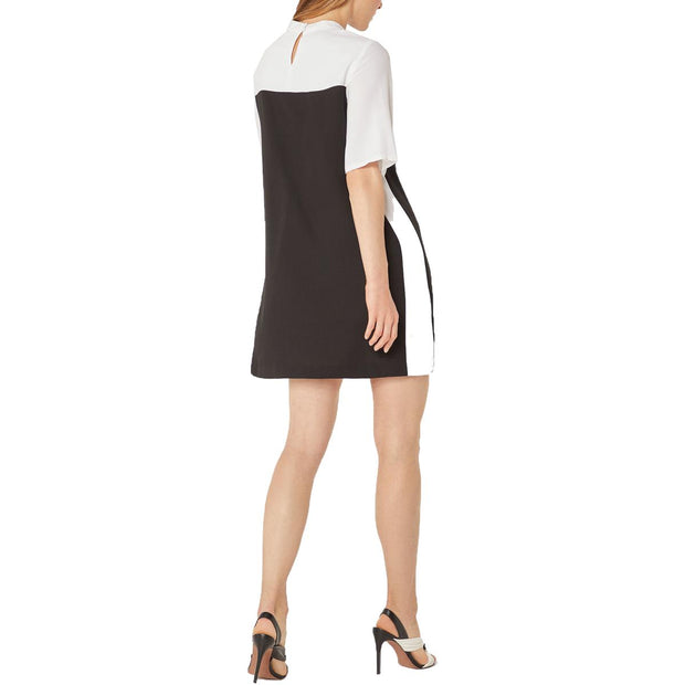 Womens Colorblock Shift Cocktail Dress