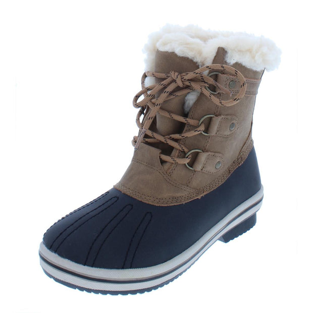 Gina Womens Faux Leather Cold Weather Winter Boots