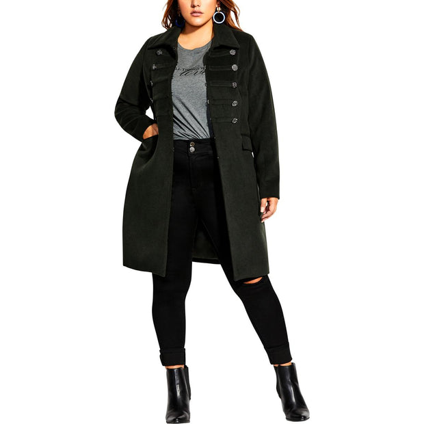 Plus Womens Long Warm Coat
