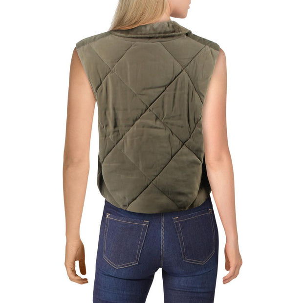 No Chill  Womens Quilted Jacket Outerwear Vest