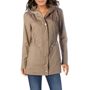 Cole Haan Womens Woven Waterproof Raincoat