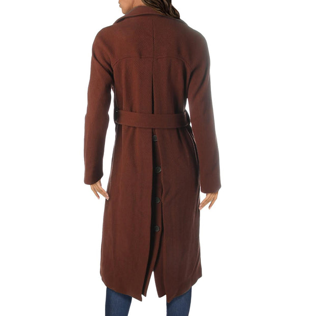 Alva Womens Wool Dressy Trench Jacket
