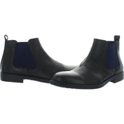 Jaylon Mens Leather Slip On Ankle Boots