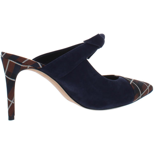Sylvia Womens Suede Plaid Pointed Toe Heels