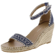 Charming Womens Ankle Strap Studded Wedge Sandals