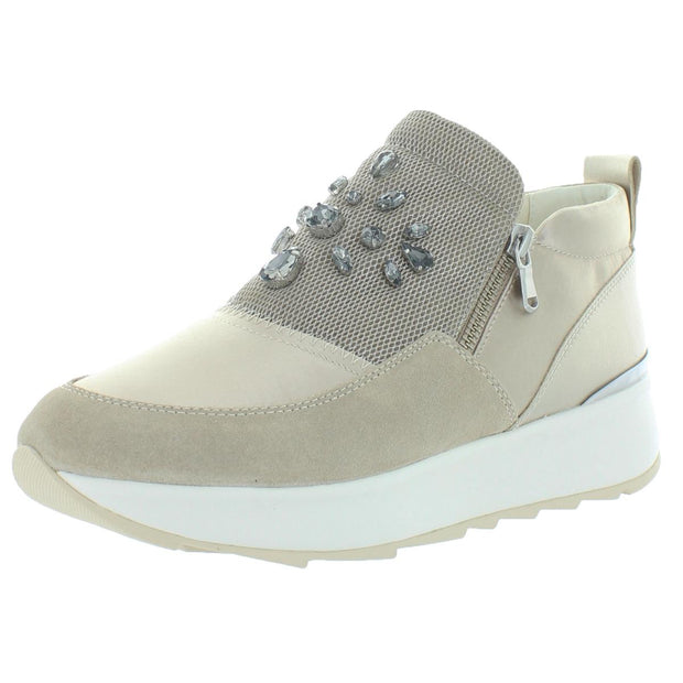 Geox Respira Womens Gendry Leather Embellished Sneakers