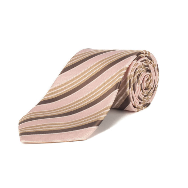 Ermenegildo Zegna Men's Silk Textured Stripe Tie Pink