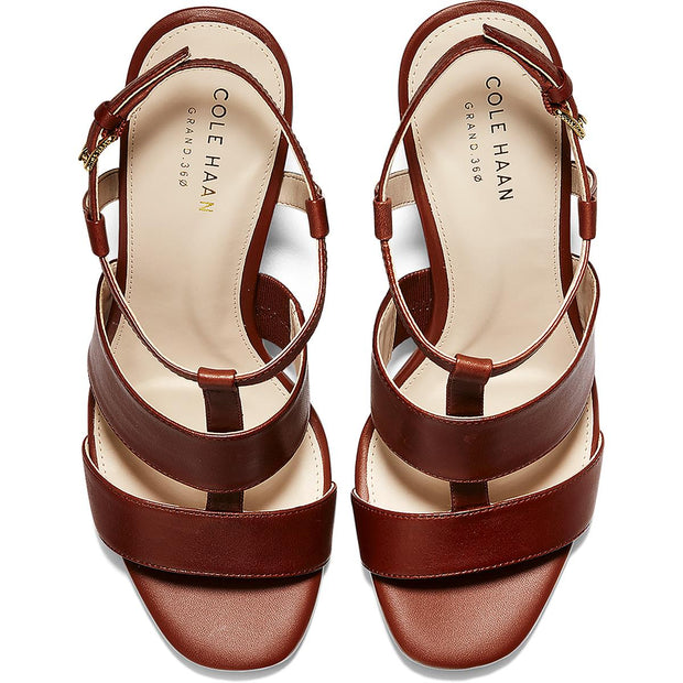 Cherie Grand Womens Leather Ankle Strap Dress Sandals