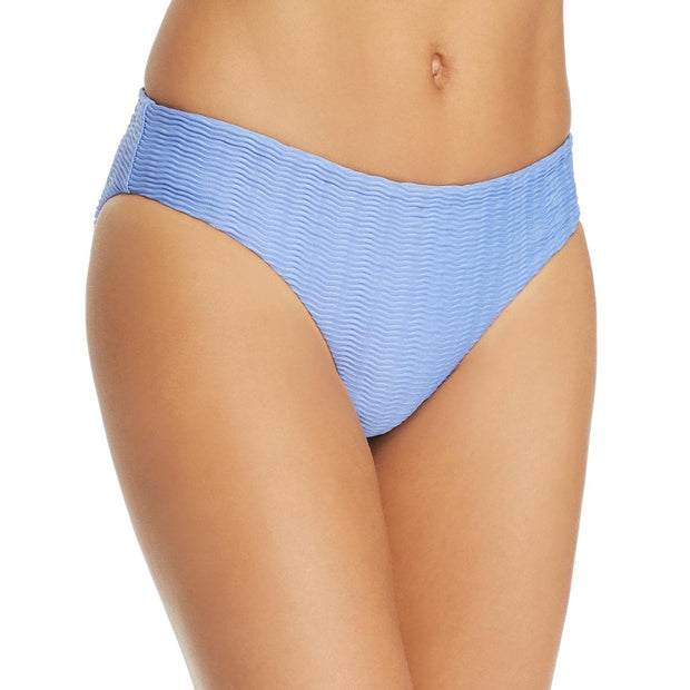 Womens Textured Solid Swim Bottom Separates