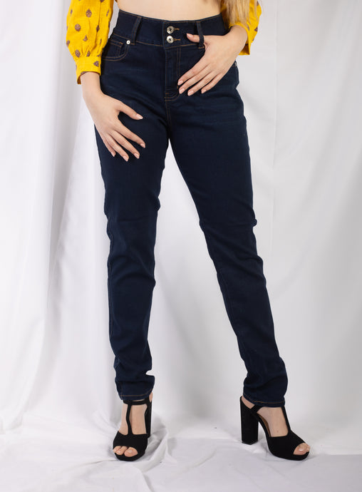 Whisker Wash 2 Button Jean