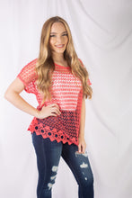 Load image into Gallery viewer, Short Sleeve Lace Top