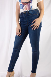 1 Button High Rise Jeans