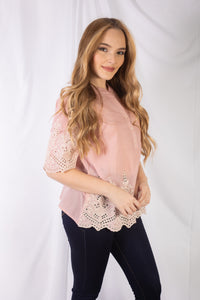 Embroidery Eyelet Top