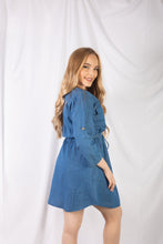 Load image into Gallery viewer, Zipper Front Denim Dress