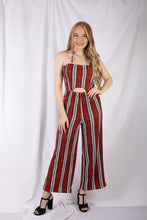 Load image into Gallery viewer, Striped Smocked Jumpsuit