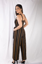 Load image into Gallery viewer, Stripe Button Jumpsuit