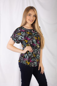Printed T Body Top