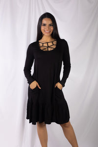 Webbed Neck Dress