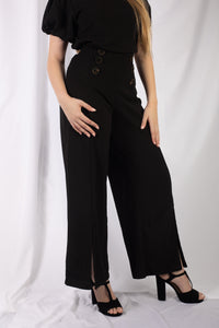 Textured Pull On Palazzo Pant