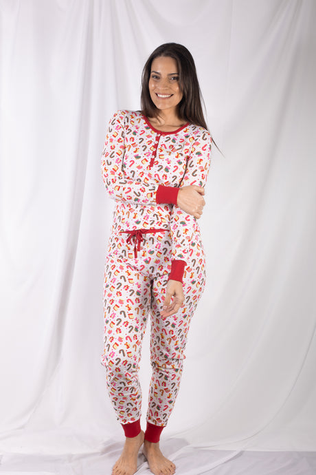Christmas Theme Jogger Pajama Set