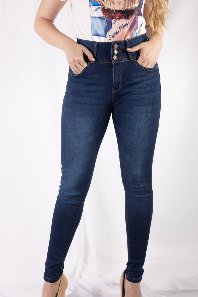 3 Button Sandblasted Jean