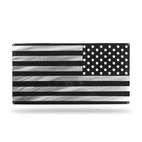 Assaulting Flag (Black/Silver) - Redline Steel
