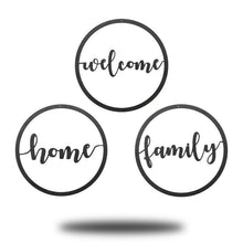 Load image into Gallery viewer, Welcome, Home, Family Circle - Redline Steel