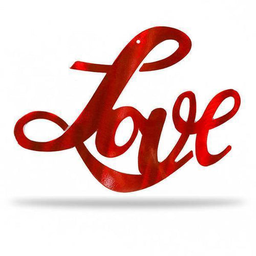 Cursive Love - Red Promotional Item - Redline Steel