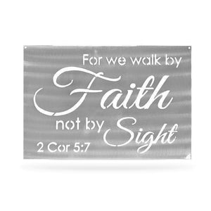 "Quote - ""...Walk by Faith not by sight"" - Redline Steel"