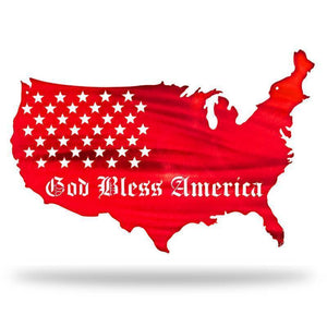 GOD BLESS AMERICA FLAG - Redline Steel