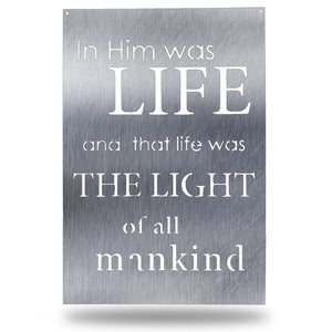 "Quote - ""Life and Light"" - Redline Steel"