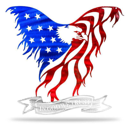 In God We Trust - Eagle - Redline Steel